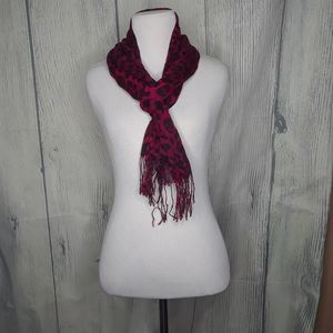 Women's Pink, Cheetah and Skull scarf